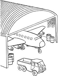 Coloriage Hangar Avion Imprimer Sur Coloriages Info