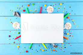 Blank Birthday Banner Blank Birthday Greeting Banner With Copy Space For Text And