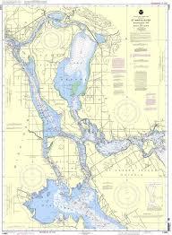 Noaa Nautical Chart 14883 St Marys River Munuscong Lake