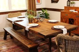 immaculate barn wooden square dining farmhouse table with benches as well as brown curtain windows in small vintage dining room designs