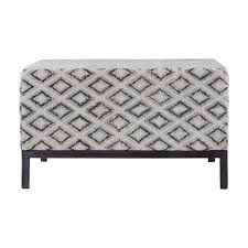 Black And White Pouf House Doctor Rhombos Pouf Black White Cotton Metal Living And Co