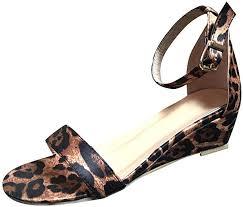 <b>Women's Leopard Summer</b> Wedge Sandals Shoes,<b>Ladies 2019</b> Hot ...