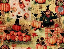 Cotton Quilt Fabric Give Thanks Scarecrow Thanksgiving Fall ... & Cotton Quilt Fabric Give Thanks Scarecrow Thanksgiving Fall Harvest -  product image Adamdwight.com