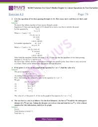 ncert solutions for class 9 maths chapter 4 linear equations in 2 variables part 13
