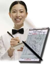 restaurant waiter taking order.  Restaurant T Ry  In Restaurant Waiter Taking Order H