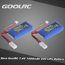2шт GoolRC <b>7.4V</b> 1500mAh 30C Mini TAMIYA Plug LiPo ...