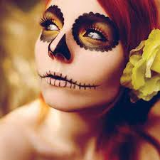 simple makeup ideas skull candy