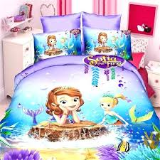 mermaid bedding queen little bed sheets incredible