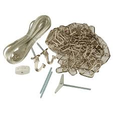 portfolio 2 hook nickel metal swag light kit with chain and cord