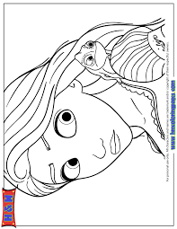 Small Picture Rapunzel With Pascal The Chameleon Coloring Page H M Coloring