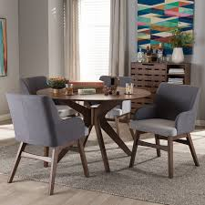 monte mid century modern wood round 5 piece dining set reviews pertaining to room table inspirations 7