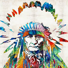 native american painting native american art chief by sharon mings by sharon mings