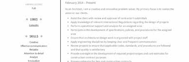 Resume Examples Architect Architect Resume Sample Writing Guide Resumeviking Com