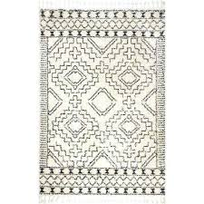 moroccan area rug tribal tassel off white 8 ft x ft area rug
