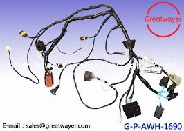 engine wire harness on s quality engine wire harness supplier 12 awg 48 way waterproof wiring harness connector rubber isolator distributor