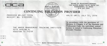 65 Certificate Management Nursing Registered Board 16-hour Of Court Anger California