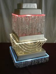 lighted acrylic wedding cake stand