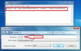 add ads txt file format