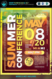 Make Free Flyers To Print Summer Conference Flyer Template Flyers Print Templates Summer