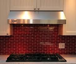 Red Kitchen Backsplash Tiles Glass Tile Ideas Bcksplsh Red Brick Backsplash  Kitchen Black Accent ...