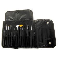 mash professional 15 piece nail art brush kit set væri gaman að gera á sig fínar