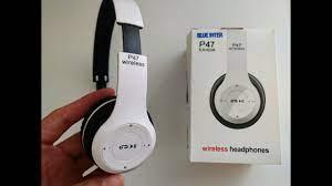 P47 Extra bass Bluetooth kulaklık inceleme   P47 Bluetooth headphone  Unboxing - YouTube