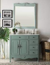 38 Vintage Blue Daleville Bathroom Vanity W Mirror Hf 837y Bs Mir