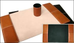leather desk blotter. Leather Desk Blotter - Available In Black, Chestnut Or Tobacco Colored