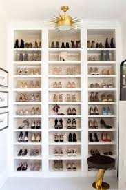 ... Wall Shelves For Shoes Luxury White Gold Stained Built In Shelf 17 Best  Ideas About Shoe ...