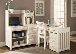 image of the white corner desk with hutch and drawers