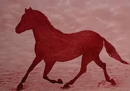 running horse painting running horse silhouette red wine painting by georgeta blanaru on horse silhouette wall art with running horse silhouette red wine painting painting by georgeta blanaru
