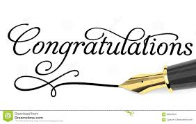 Word For Congratulations Congratulations Card Stock Illustration Illustration Of