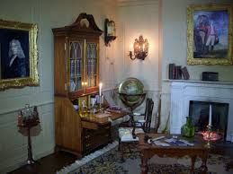 The Library At Faversham House A Room In Judys Doll House My - Dolls house interior
