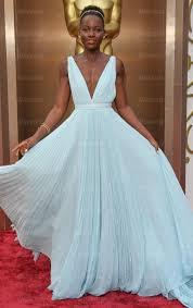 Fantastisches langes hellblaues Chiffon Ballkleid Abendkleid ...