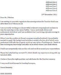 Teacher Assistant Cover Letter For Position Sample Teaching Pics