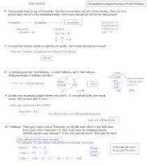 decimals percentages fractions word problems 2 solutions