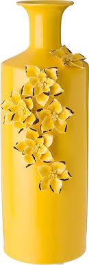 <b>Ваза Lefard</b> Крокосмия, 101-1058, желтый, 18 х 15 х 44 см ...