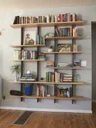 Wood bookshelves with doors 4