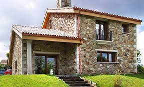 Resultado de imagen para Fachada de casa de 2 plantas con piedras