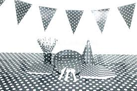 black and white polka dot tablecloth black and white polka dot tablecloth party white polka dot