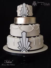 gatsby art deco 1920s themed wedding cake with edible silver leaf art deco inspired pinterest