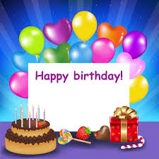 Happy Birthday Background Images Happy Birthday Background With Cake And Balloons Gallery