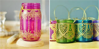Painting Glass Lamps Make Your Diwali Beautiful Eventalyare