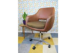 Norwegian vintage office chair Leather Reclining Vintage 1960s Mobelfabrik Norwegian Brown Vinyl Office S Wikipedia Vinterior Vintage Furniture Midcentury Antique Design Furniture