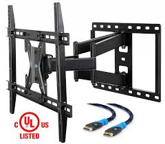 mounting dream md2296 ul certified tv wall mount bracket for most 42 70 inch led lcd and oled flat screen tv with full motion swivel articulating arm