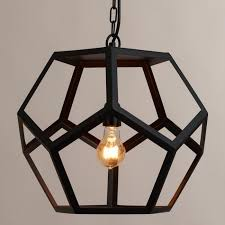 black metal hexagon pendant world market pendant light epic hanging pendant lights