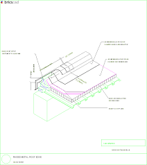 raised metal roof edge aia cad details zipped into winzip format files for