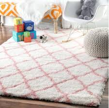 nursery rugs for girls baby pink cloudy trellis soft plush bedroom bedrooms on a budget