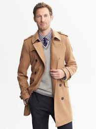 camel wool belted trench tan trenchcoat by banana republic