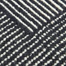 stripe round rug by tom black and white rugs